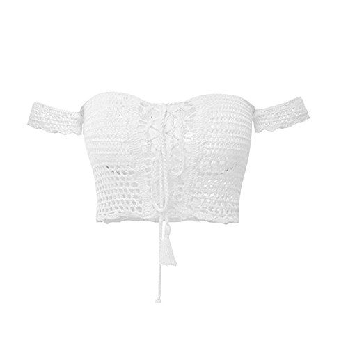 New Trending Crop Tops: Creabygirls Womens Cute Off The Shoulder Crochet Lace Up Crop Top (US4-6, White). Special Offer: $14.99 amazon.com Creabygirls: Creabygirls is a registered brand in USA. Fashion, sexy, high quality but affordable is Creabygirls slogan. From Creabygirls you'll see the latest and cool design of the season. No more worry about what should to wear tomorrow and which...