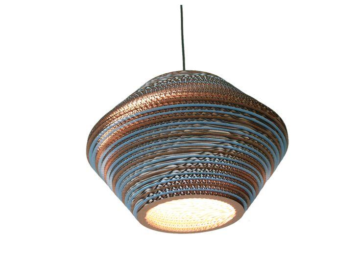 Kartonstudio ''Honeycomb Color Mavi' Karton Sarkıt Lamba