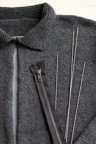 Knitting Zipper Tutorial : Zipper tutorial knitwear and tutorials