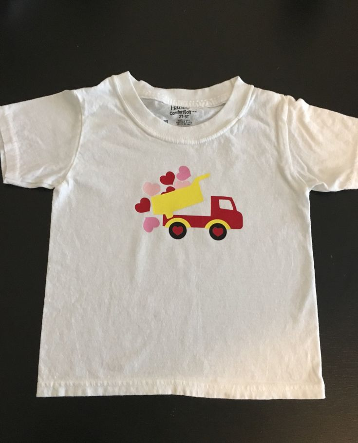 Valentines's Day Dump Truck of Hearts Shirt or Onsie! Boy Valentine's Day! by babycalistyle on Etsy