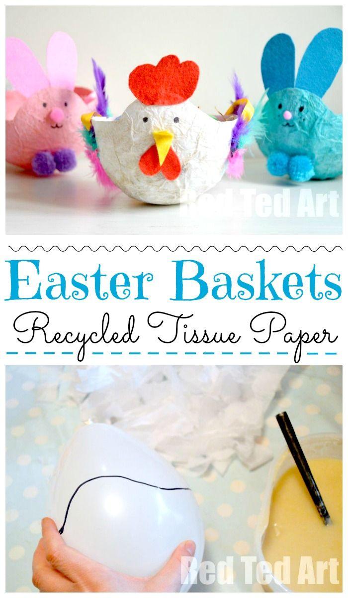 Easter Baskets For Kids Papier Mache Hen Easter Basket Crafts