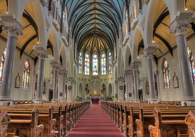 A great shot of the interior of the Church of Our Lady Immaculate