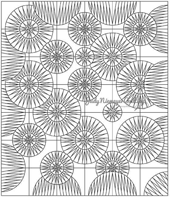 Sea Urchins Line Drawing, Quiltworx.com, Made by Quiltworx.com.