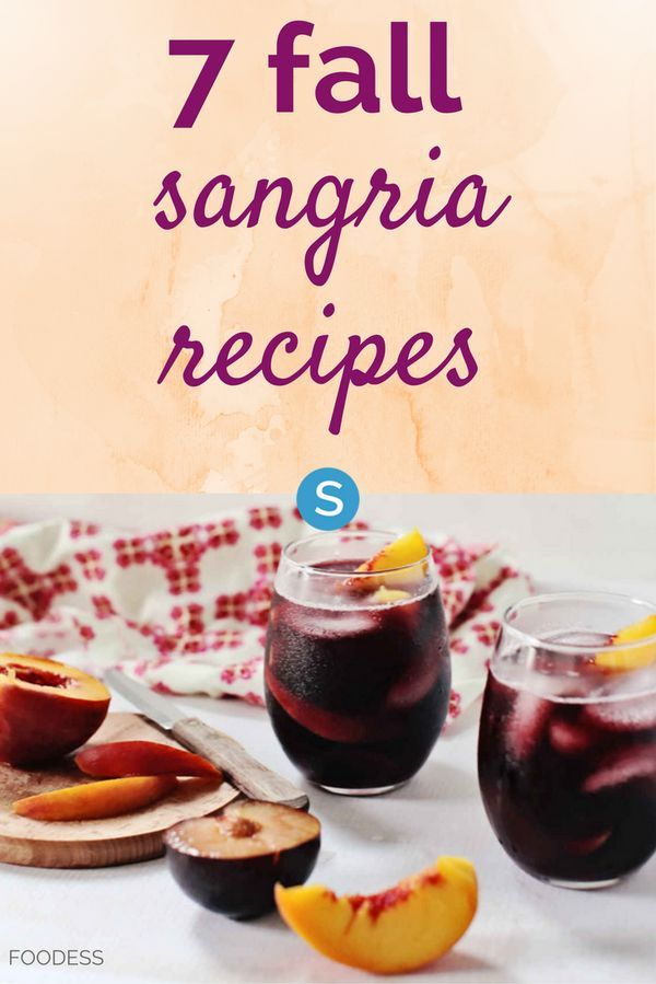 Who says sangrias are just for summer? Check out these tasty fall sangria cocktail recipes: http://simplemost.com/7-fall-sangria-recipes-sangria-isnt-just-summer-anymore/?utm_campaign=social-account&utm_source=pinterest&utm_medium=organic&utm_content=pin-description