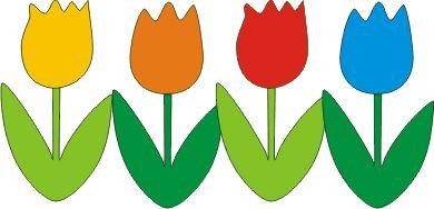 tulipani addobbi - decorazioni primavera per la scuola