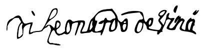 Firma de Leonardo Da Vinci - Léonard de Vinci — Wikipédia