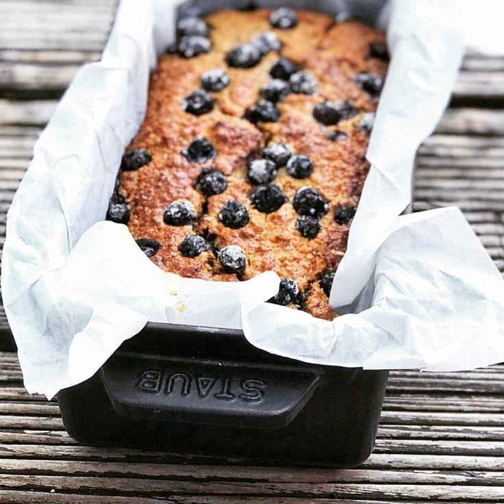 Gesunder Frühstückskuchen mit Blaubeeren – Holla die Cheffee   – Low Carb Frühstück Rezepte