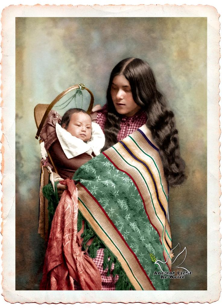 Indian Maiden by Edward Curtis colored by Ancient Light Re-Write