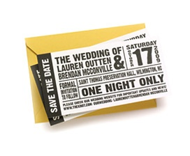 Concert / Event Ticket Wedding Save the Dates