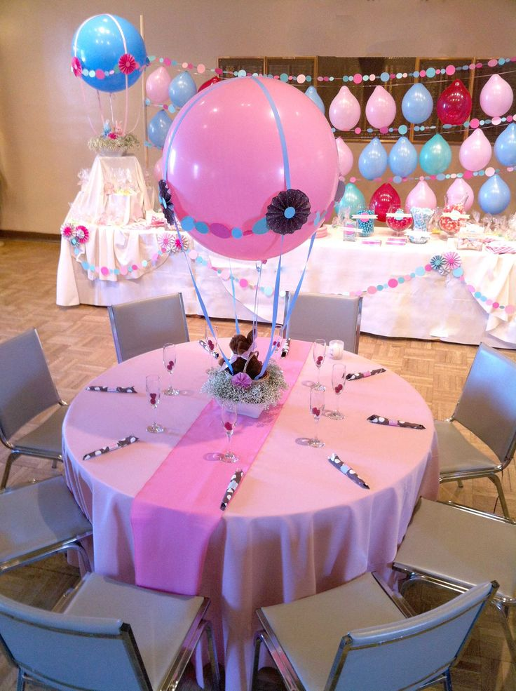 Baby Shower Easter Themes ~ Bunny and hot air balloons for easter holidays