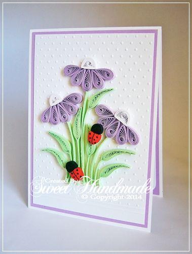 • Sweet Handmade •: Fleurs d'été - Noua colectie de Felicitari quillin...