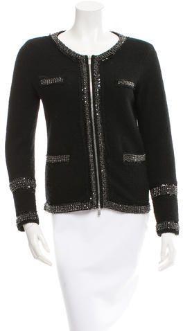 Diane von Furstenberg Embellished Wool Jacket