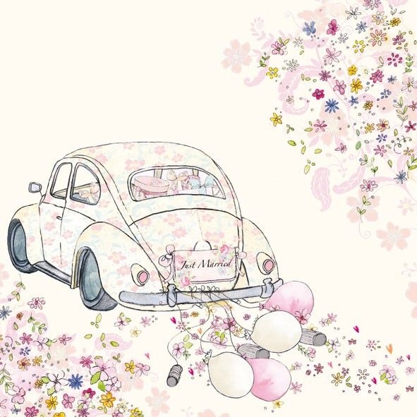 Just Married Car Cans Luncheon Paper Napkins
