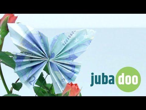 Geldschein falten: Schmetterling - YouTube