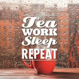 Tea  work sleep repeat #hallmark #tea #teawishes #pickwick #thee