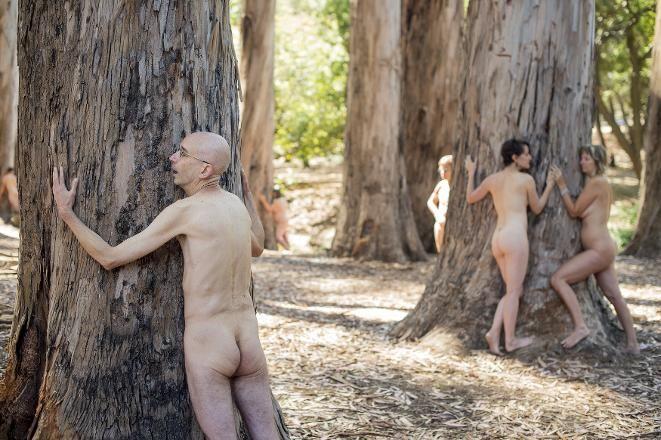 Cumhuriyet Gazetesi - (Fotoğraf) ABD'de 'Ağaçlara kıymayın' eylemi ABD'de Kaliforniya Üniversitesi'ndeki Berkeley kampüsünde kesilmesi planlanan ağaçlar için eylem yapan aktivistler, TreeSpirit Project (Ağaç Ruhu Projesi) kapsamında çıplak şekilde ağaçlara sarılarak poz verdi.