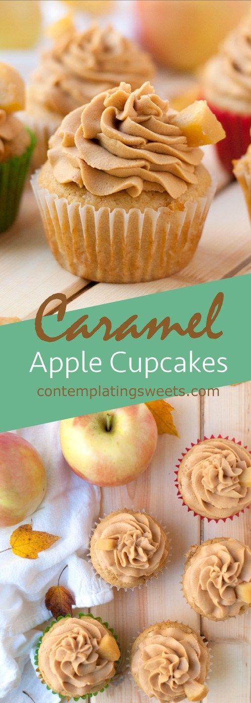 Caramel Apple Cupcakes                                                                                                                                                                                 More: