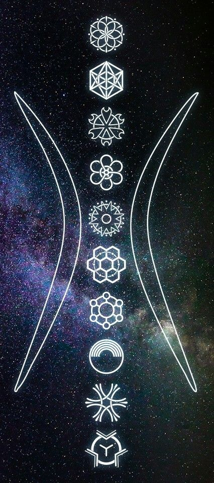 Sacred Geometry 10 Symbols of Burning Man by Wick, based on The Ten Principles. #10symbols #sacredgeometry #burningman