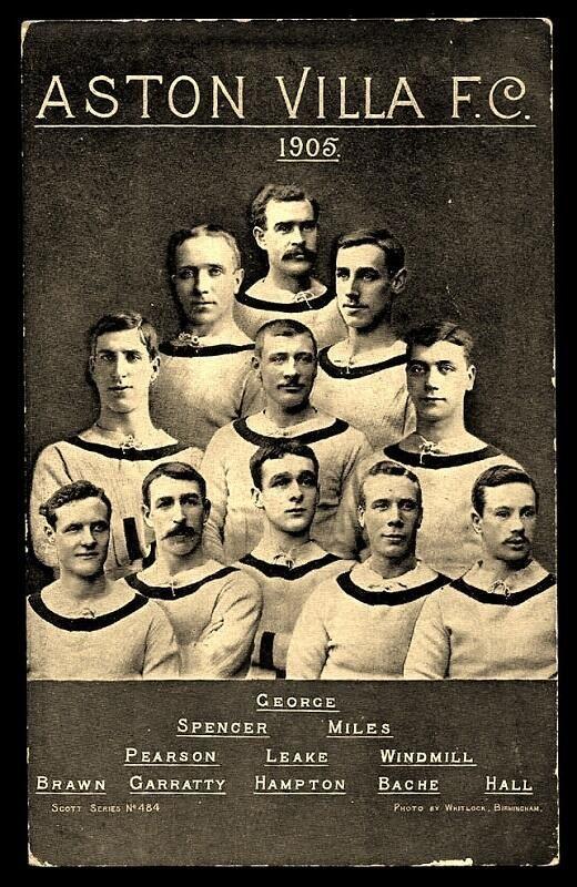 Aston Villa FC, 1905. photo with my great great uncle Harry Hampton.