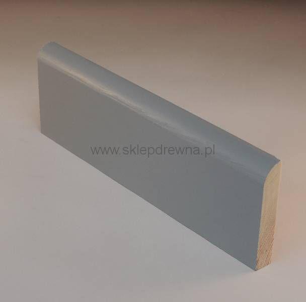 Szare listwy przypodłogowe o wymiarach 1,8x9cm. Sklep Drewna