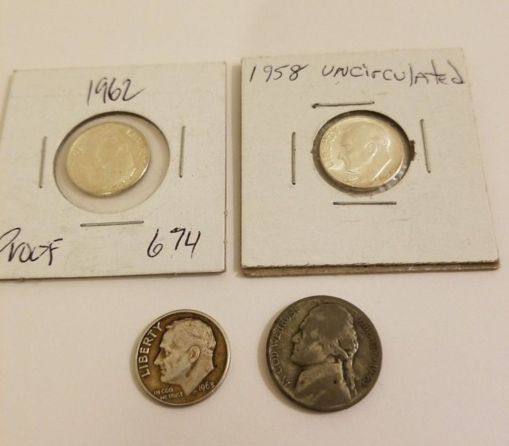US Silver Coins Lot 1 Uncirculated Dime 1 Proof Dime War Nickel and Bonus Coins! Also dont forget to follow us @SaveCashWithKaz for the best #Deals also check out our ebay store https://www.ebay.com/usr/savecashwithkaz