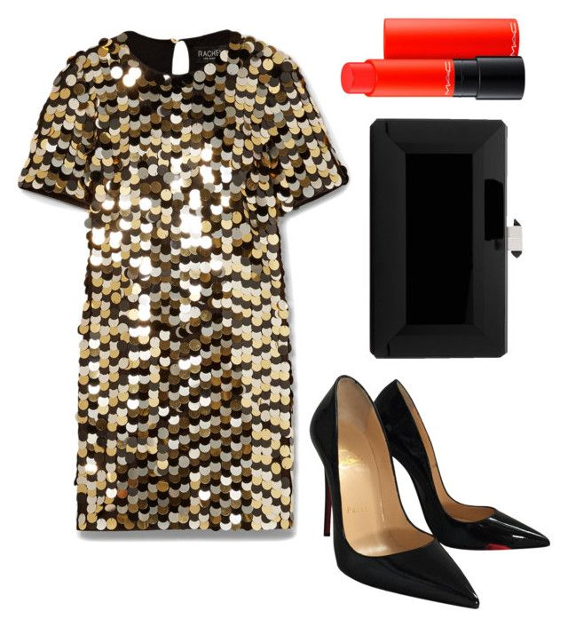 """Untitled #199"" by zsofi-szibilla on Polyvore featuring Rachel Zoe, Christian Louboutin, Judith Leiber and MAC Cosmetics"