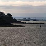 Vue du sentier des douaniers à Saint Malo.