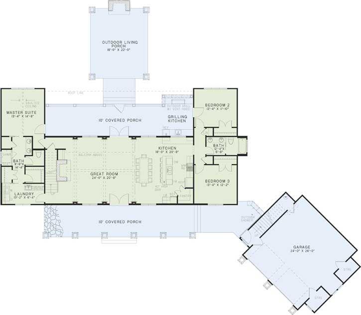 5 bedroom farmhouse floor plans for Best farmhouse floor plans