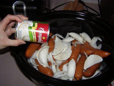 Perogies and Sausage Bake Recipe for the Crockpot