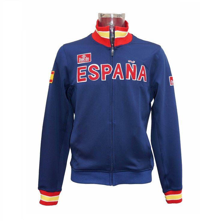 "Chaqueta Deportiva ""España"" Azul - €45.00   https://soloartesmarciales.com    #ArtesMarciales #Taekwondo #Karate #Judo #Hapkido #jiujitsu #BJJ #Boxeo #Aikido #Sambo #MMA #Ninjutsu #Protec #Adidas #Daedo #Mizuno #Rudeboys #KrAvMaga"