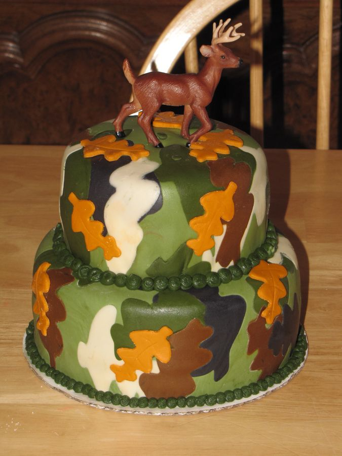 hunting cakes | Small Camo deer hunting cake — Birthday Cakes