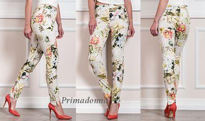Γυναικεία μόδα by Primadonna : Γυναικείο εφαρμοστό παντελόνι floral