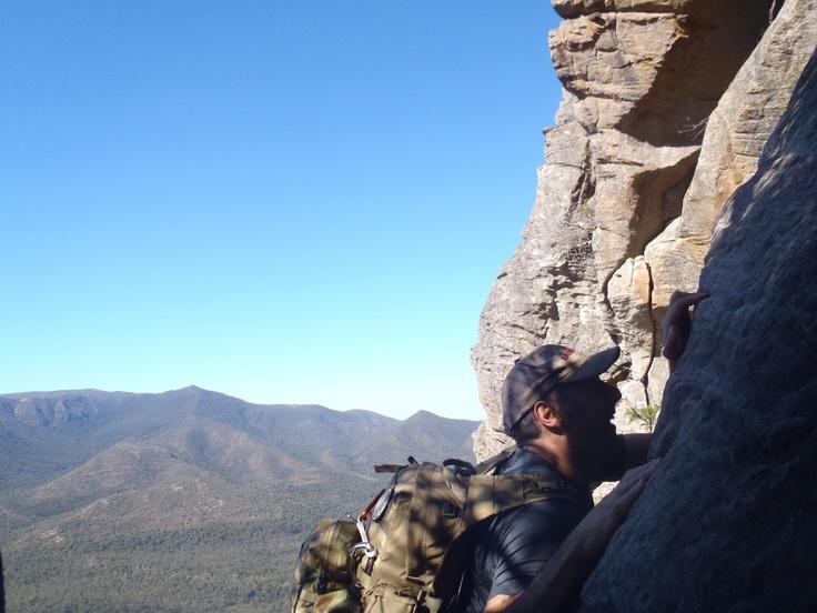 Climbing in the Serra Range, Grampians, great views!