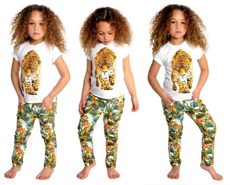 RYB Leopard tee and Tropical pants