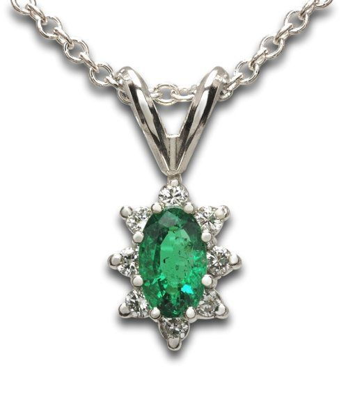 Emerald & Diamond Pendant