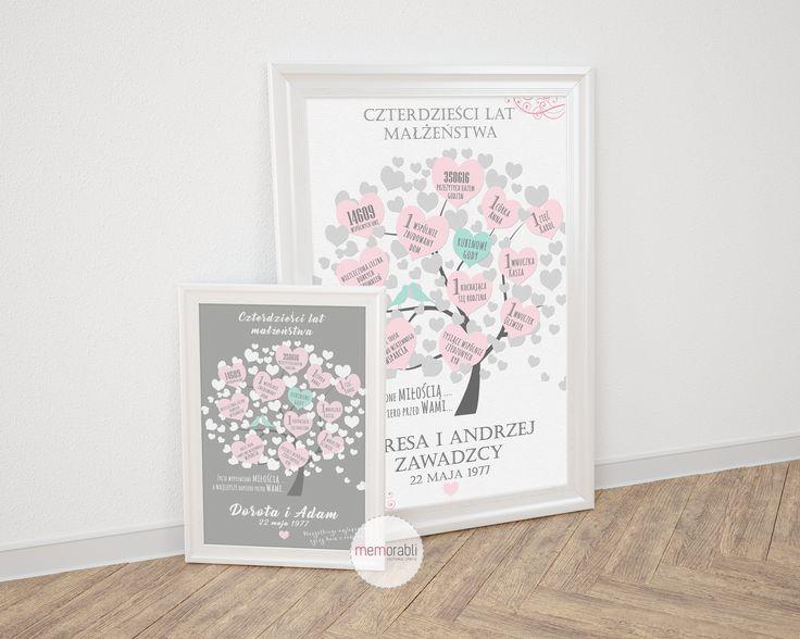 Plakat dla pary młodej lub na rocznicę ślubu #walentynki #love #ślub #wedding #rocznica #valentinesday #anniversary #memorabli #handmade #plakaty #poster #nasciane #dekoracjapokoju #maż #żona #certyfikat