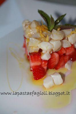 Tartare di spatola con fragole, miele allo zafferano e fiocchi di sale al limone e Olio Flaminio Delicato by http://lapastaefagioli.blogspot.it/