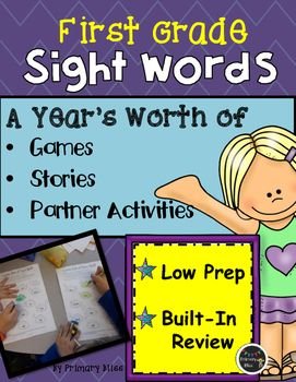 This thorough and complete 800 page sight word (high frequency word) program took several years to fully develop and is UNLIKE any other sight word program! Your students will have so much fun interacting with each other as they engage in a variety of fun and interactive games and activities.