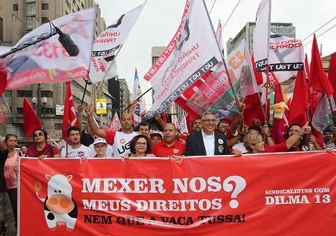 A vaca tossiu e Dilma ameaça os direitos do trabalhador. Na mira: seguro-desemprego, abono salarial e auxílio-doença. E agora, o que a pelegada das centrais sindicais que apoiaram Dilma vai fazer? Deixar a vaca tossir e ferrar o trabalhador brasileiro?