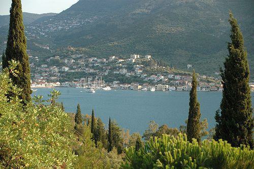 Vathy town, Ithaca, Greece