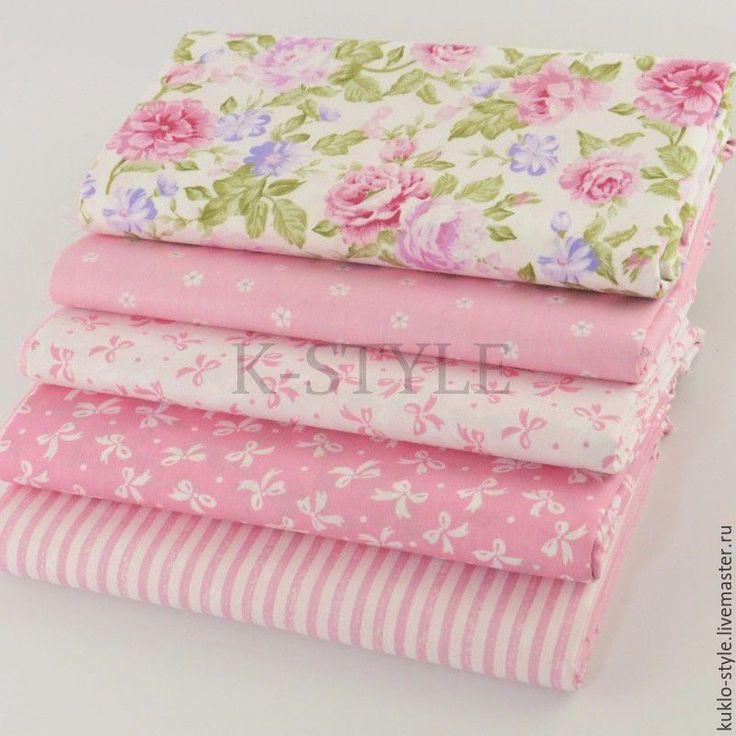 Купить Набор тканей - розовый оттенок - розовый, набор тканей, набор для творчества