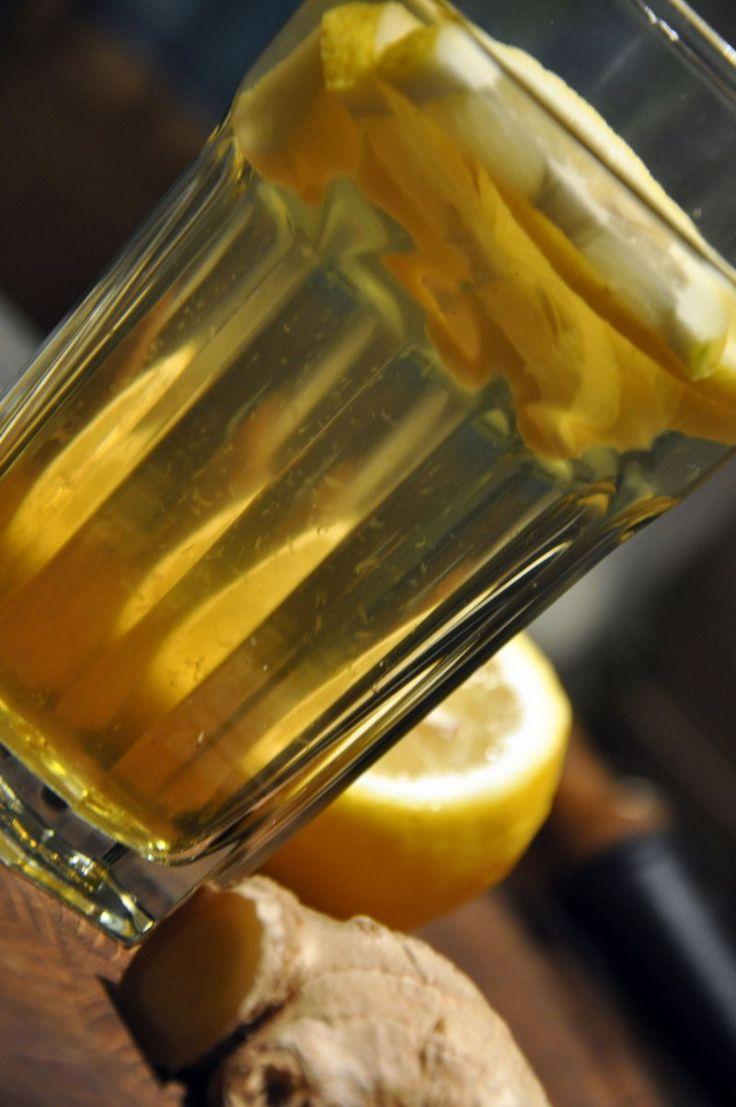 Varm Hyldeblomst med citron og ingefær, Danmark,Andet, Andet, Frugt, opskrift