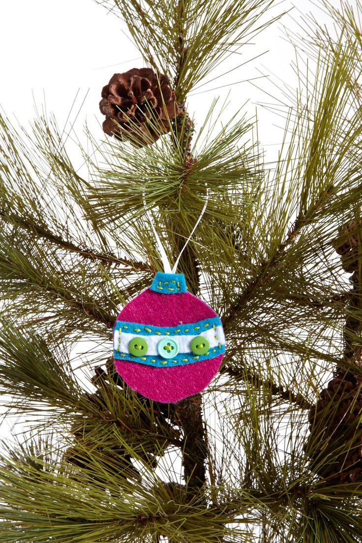 #DIY felt #Christmas tree #Ornament #Crafts
