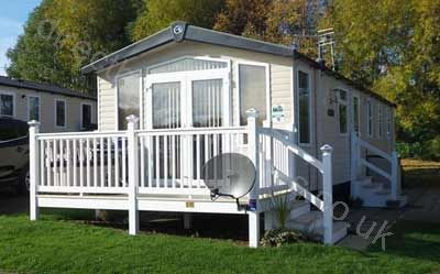 Our Swift Moselle caravan for hire, situated in the Golf Village of the park