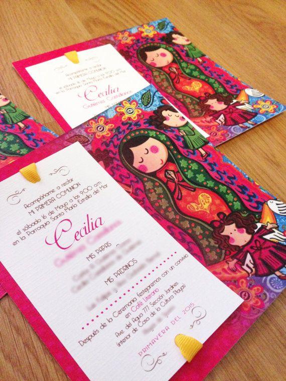 Virgencita....First Holy Communion party kit printable diy GIRL