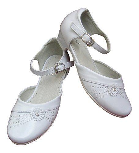 Kommunionschuhe Schuhe Kommunion festliche Kinderschuhe Mädchen Strass, weiß, 34 - http://on-line-kaufen.de/yes-2/34-eu-kommunionschuhe-schuhe-kommunion-maedchen