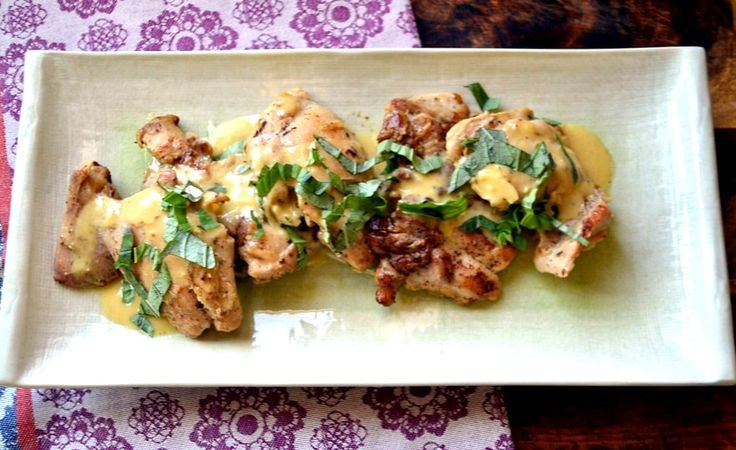 A classic Julia Child recipe with sauteed chicken in herbes de provence and simple hollondaise sauce.