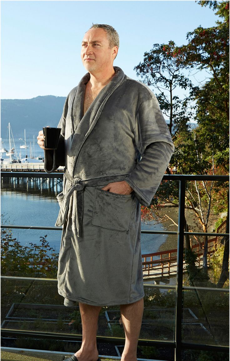 Dad will love to lose himself in the pure sensuous softness of the Plush Lounge Robe. Perfect for chilly mornings.