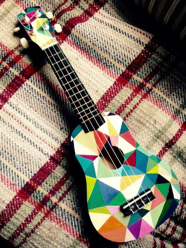 Hand painted ukulele - by Simon Glossop