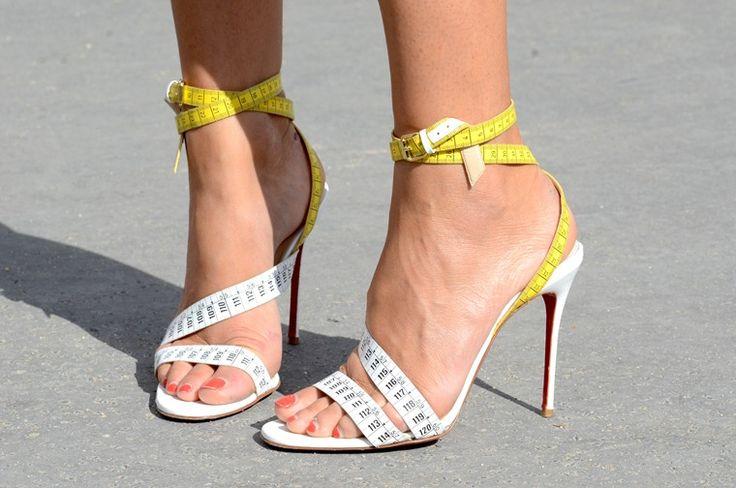 louboutin tape measure shoes